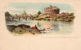 ROME - Mausolée D' Adrien (Château St. Ange) - (Belle Illustration De G. Gioja) - Castel Sant'Angelo