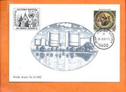 NATIONS-UNIES, Vienne, Carte Postale Souvenir Expo Poznan 92 - Centre International De Vienne