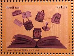 Brazil Stamp Homage To The Postal Library 2018 - Brazil