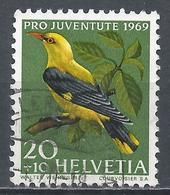 Switzerland 1969. Scott #B387 (U) Bird, Golden Oriole * - Pro Juventute