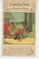 """BENJAMIN RABIER -Jolie Carte """"LE CHAUFFEUR MYOPE"""" Ours & Automobile -Carte PUB Pour Chaussures A LA BOTTE DE LA VILLETTE - Rabier, B."""