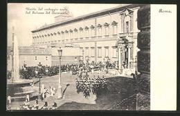 Cartolina Roma, Uscita Del Corteggio Reale Dal Palazzo Del Quirinale - Roma