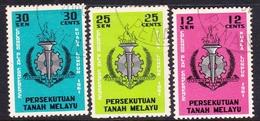 Malayan Federation SG 20-22 Colombo Plan Conference, Used - Federation Of Malaya
