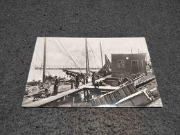 VINTAGE PHOTO POSTCARD NETHERLANDS VOLENDAM PORT CIRCULATED 1949 - Volendam