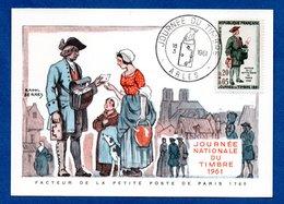 Carte Premier Jour  / Facteur De La Petite Poste / Arles  / 18-03-1961 - Maximumkarten