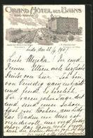 Cartolina Lido-Venise, Promenadenpartie Am Grand Hôtel Des Bains - Italie