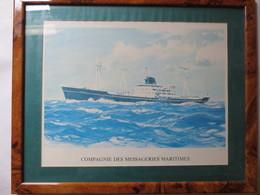 Compagnie Des Messageries Maritimes - Vaucluse - Gravure D'après Gouache D'Albert Brenet - TBE - - Boats