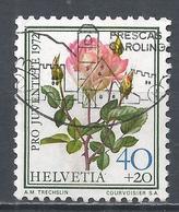 Switzerland 1972. Scott #B413 (U) Famous Rose, Madame Dimitriu * - Pro Juventute