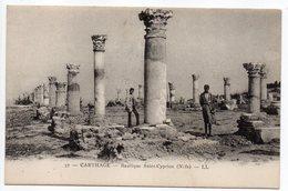 Tunisie-- CARTHAGE - Basilique  Saint Cyprien (animée) - Tunesië