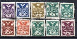CZECHOSLOVAKIA  1920 , MMH, 10H  DIFFERENT COLOR +25H DIFFERENT TYPE - Czechoslovakia