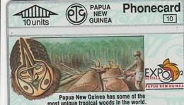 Papua New Guinea - Expo '92 Sevilla - Tropical Woods - CN:203A - Papua New Guinea