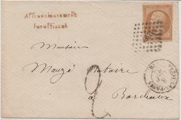 Affranchissement Insuffisant. Taxe 2 De Fabrication Locale - Rare 1862 - 1849-1876: Période Classique