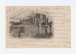 Carte Postale De L'abbaye De Saint Antoine, Isère .  Timbrée Avec Mouchon 10c. Type I. (525) - Marcophilie (Lettres)