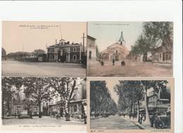 4 CPA:ARLES (13) ATELIERS DU P.L.M ROUTE DE MARSEILLE,BOULEVARD DES LICES,NOTRE DAME DE LA MAJOR PLACE DE L'ÉGLISE,PLACE - Arles