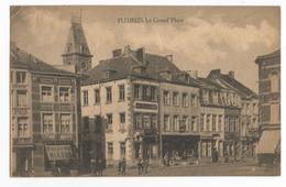 Fleurus La Grand Place Carte Postale Ancienne Animée - Fleurus