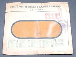 GRECE - Enveloppe Commerciale ( Armements ) De Le Pirée Avec Contrôle Postal - L 19001 - Grecia