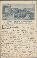 Hôtel Central & Bellevue, Lausanne, Vaud, 1907 - U/B CPA - VD Vaud