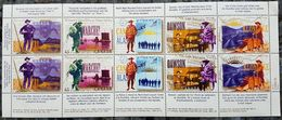 Canada 1996: CAPEX Goldrush At KLONDIKE Unfolded Sheetlet On 10x45c With Bilingual Tabs ** MNH - Minéraux