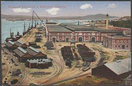 Dockyard Workshops & Waterfront, Gibraltar, C.1905-10 - Benzaquen & Co Postcard - Gibraltar