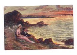 COPIE DE TABLEAU   Salon De Paris - AN Paris - 262 - COUPLE ROMANTIQUE :Dans La Pourpre Du Soir - RENAULT - - Paintings