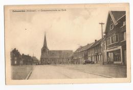 Galmaarden Gemeenteplaats En Kerk Oude Postkaart Oldtimer Citroen Traction - Galmaarden