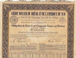 2X Credit Foncier Du Brésil Et De L'amérique Du Sud - Zonder Classificatie