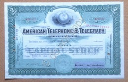 Azioni Shares - Certificato 2 Azioni American Telephone And Telegraph 1948 - Azioni & Titoli