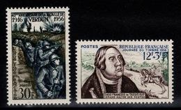 YV 1053 & 1054 N** Verdun Et Journee Du Timbre Cote 5,90 Eur - Unused Stamps