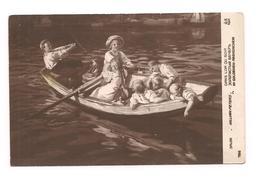 COPIE DE TABLEAU   Salon DANS L'OR DU SOIR -Enfants Dans Une Barque - AN Paris 786 - - Paintings