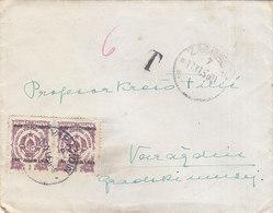Yugoslavia Postage Due 2 X 3 Din, Sent From Zagreb To Varazdin 1950 - Portomarken