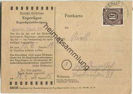 Ortskarte Berlin - Expressgut-Abholung - Deutsche Reichsbahn - 12.April 1946 - Berlin (West)