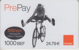 BELGIQUE -  RECHARGE - GSM ***  ORANGE - CYCLISTE *** - Belgium