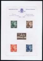 Belgium : LX10  Eeuwfeest Centenaire  OBP 807 - 810 Luxe Velletje Feuillet De Luxe Lux Proof 1949 - Hojas De Lujo