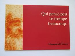 """Leonard De Vinci  """"  Qui Pense Peu ,se Trompe Beaucoup """" - Personnages Historiques"""