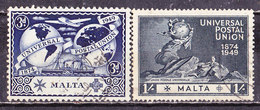 Malta-1949-UPU Usati - Malta (...-1964)