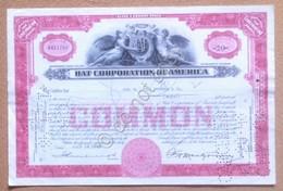 Azioni Shares - Certificato 20 Azioni Hat Corporation Of America 1948 - Non Classificati