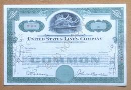 Azioni Shares - Certificato 50 Azioni United States Line Company 1948 - Non Classificati