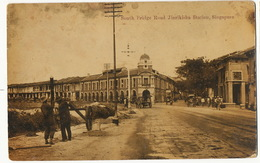 Singapore South Bridge Road Jinrikisha Station 1918 Gendarme Au Cambodge 1918 - Singapour
