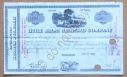 Azioni Shares Certificato 26 Azioni Little Miami Railroad Company 1948 - Non Classificati
