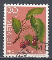 Switzerland 1973. Scott #B419 (U) Fruits, Sweet Cherries * - Pro Juventute