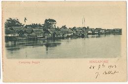 Singapore Campong Buggis  1903 No 31 Max Ludwig Ship Mark Paquebot - Singapour