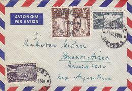 Yugoslavia Airmail Cover Sent To Argentina , Zagreb 1958 - Poste Aérienne