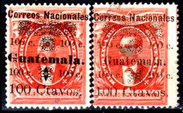 Guatemala-0031 - Emissione 1886 (sg) NG - Differente Sovrastampa - - Guatemala