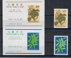 COREA DEL SUD 1965 - PIANTE - FLORA - 2 VALORI + 2 FOGLIETTI -- MNH ** - Corea Del Sud