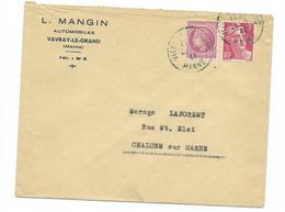 Affranchissement Mixte Mazelin  - Gandon - Marcophilie (Lettres)