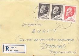 Yugoslavia Registered Cover Pula 1970 - 1945-1992 Sozialistische Föderative Republik Jugoslawien