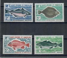 SAINT PIERRE ET MIQUELON 1972 - FAUNA PESCI - SERIER COMPLETA - MNH ** - St.Pierre & Miquelon