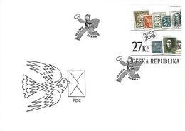 FDC 982 - 983 Czech Republic Centenary Of The Czech Stamp 2018 - Briefmarken Auf Briefmarken