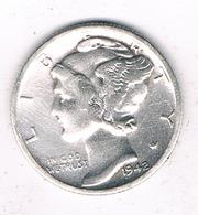 ONE DIME 1942 S  USA /3311G/ - 1916-1945: Mercury