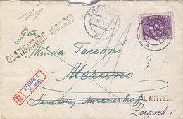 Yugoslavia Registered Cover Zagreb 1948 Sent To Italy , Retour , Unknown Destination - 1945-1992 Sozialistische Föderative Republik Jugoslawien